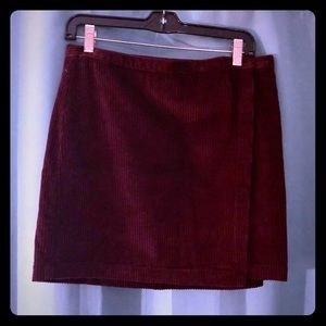Abercrombie & Fitch Corduroy Wrap Around Skirt Med